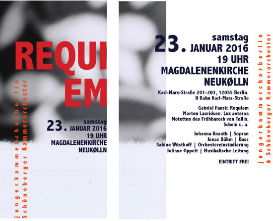 Konzert-Flyer Requiem